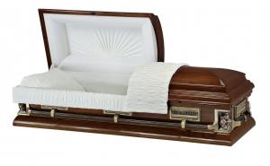 Hardwood Passion of Christ Casket