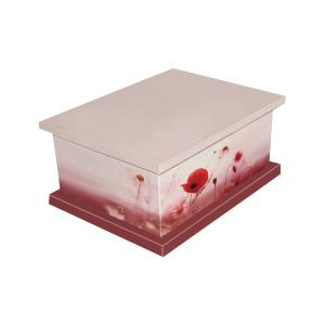 Poppy Picture Cremated Remains Casket