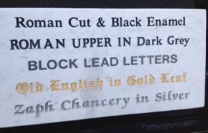 letteringplaque